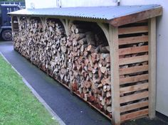made to order wood shelters – All For Garden Backyard Storage Sheds, Wood Storage Sheds, Backyard Sheds, Backyard Retreat, Backyard Landscaping, Outdoor Firewood Rack, Firewood Shed, Firewood Storage, Wood Shed Plans