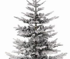 snowy nobles fir pre lit artificial christmas tree