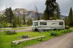 Pebble Creek Campground site, Yellowstone National Park, Wyoming (pinned by haw-creek.com)