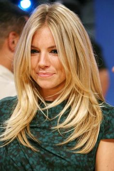 Sienna Miller, hair, lash, smile, body, and talent idol.  I'm guilty of trying to duplicate her look!