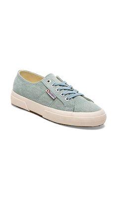 Superga Vintage Denim Sneakers in Light Blue | REVOLVE