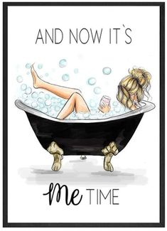 Art Mignon, Bath Art, Girly Drawings, Fashion Wall Art, Jolie Photo, Cartoon Art, Printable Wall Art, No Time For Me, Art Girl