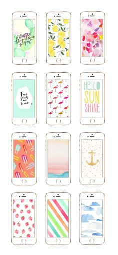 Check out these 12 awesome iPhone wallpaper designs perfect for summer at The Sweetest Occasion!