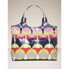 Oil Cloth Beach Bag (£28) ❤ liked on Polyvore featuring bags