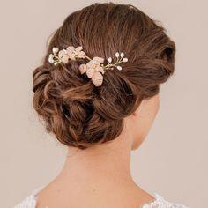 blush and pearl magnolia hair vine