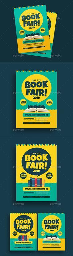 Book Fair Event Flyer Design Template PSD, AI Illustrator. Download here: https://graphicriver.net/item/book-fair-event-flyer/21798381?ref=ksioks