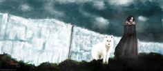 33 dibujos de Jon Snow y Ghost para usar como wallpaper – Game of Thrones – It's Spoiler Time! Jon Snow, Game Of Thrones, Fan Art, Wallpapers, Comics, Awesome, Lifestyle, Dogs, Drawings