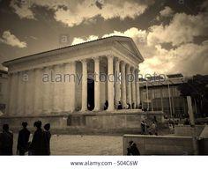 La maison carrée, Nimes,France Stock Photo