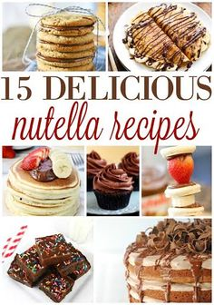 15 DELICIOUS NUTELLA RECIPES!! Easy and Delicious!! Best Dessert Recipes, Easy Desserts, Sweet Recipes, Delicious Desserts, Yummy Food, Breakfast Recipes, Dinner Recipes, Nutella Recipes, Easy Casserole Recipes