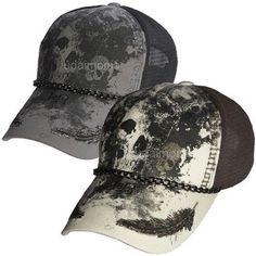 Baseball Hats Trucker Hat Skull Skeleton Print Mesh Caps Mens Womens Chain Cap #J2R #Trucker