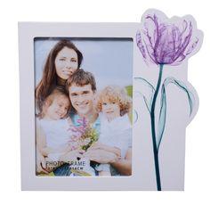 UberLyfe Premium MDF Wood Fresh Purple Tulip Photo Frame: 5 BY 7