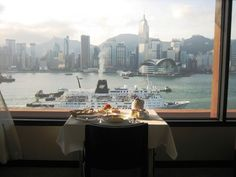 View from InterContinental Hong Kong's junior suite.