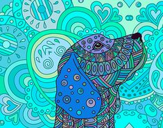 """Check out new work on my @Behance portfolio: """"Hand drawn zentangle ornate dog."""" http://be.net/gallery/60063369/Hand-drawn-zentangle-ornate-dog"""