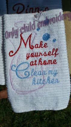 towel design https://facebook.com/onlychildembroidery