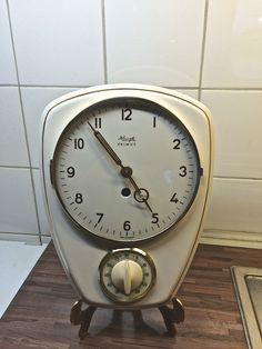Vintage Kienzle Primus Porcelain Kitchen Clock Max Bill Era with Timer | eBay