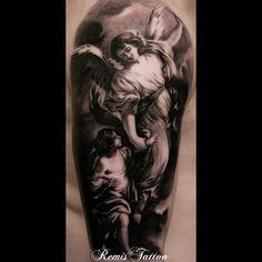 Tattoo by Remigijus Cizauskas at Remis Tattoo Black Tattoos, Cool Tattoos, Grey Tattoo, Tattoo Skin, Religious Tattoos, Skin Art, Compass Tattoo, Tattoos For Women, Body Art