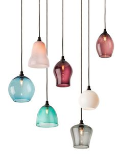 These new hand-blown glass Curiousa & Curiousa bathroom lights are just magical - perfect for adding serious wow factor to your bathroom. Bathroom Pendant Lighting, Home Lighting, Lighting Concepts, Lighting Ideas, Blown Glass Pendant Light, Hand Blown Glass, Lights, Pastel, Beautiful Things