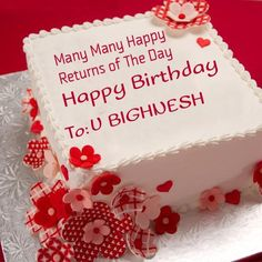 Write Your Name On Nice Birthday Cake Online