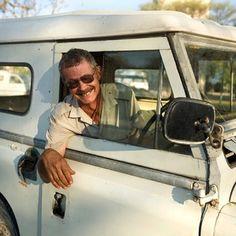 Nigel & Daisy.Namibia. Daisy has no brakes.
