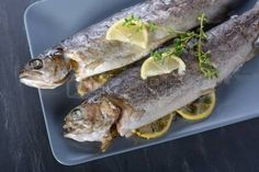 Baked trout with lemon and thyme