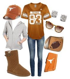 """Leigh Anne is ready for some Football!"" by bearpawstyle on Polyvore featuring H&M, Bearpaw, Karen Scott and Effy Jewelry"