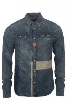 Scotch & Soda Customized Sawtooth Shirt Blue