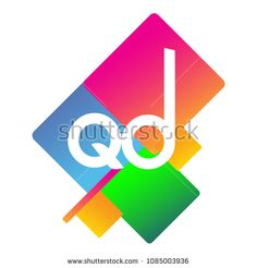 Letter QD logo with colorful geometric shape, letter combination logo design for creative industry, web, business and company. Web Business, Initials Logo, Creative Industries, Geometric Shapes, Royalty Free Stock Photos, Logo Design, Colorful, Lettering, Logos