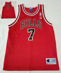 Vintage Chicago Bulls Toni Kukoc NBA Basketball Champion Jersey Youth L Nba Basketball, Chicago Bulls, Champion, Youth, Vintage, Fashion, Moda, La Mode, Fasion