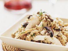 Rezept: Champignon-Risotto mit Hähnchen