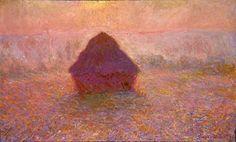 Haystacks, Sun in the Mist - Claude Monet, 1891