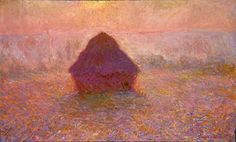 Monet - Haystacks, Sun in the Mist         	Artist:  	Claude Monet