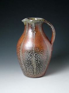 Salt glazed pitcher, anyone know the potter? Please post.