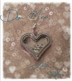 Mother's Day is May 10th, 2015.  Click on the pic to order Origami Owl Heart Locket for the mother's in your life.