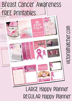 FREE Pink Ribbon Planner Printable BY Victoria Thatcher
