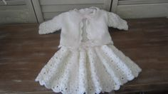 White Skirt and Jacket for a Special Baby Girl via Etsy