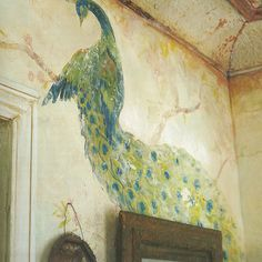 I use to have birds painted on my wall. Not this fancy though.