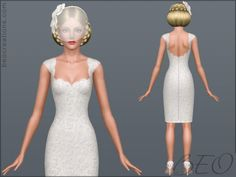 Sims 3 wedding dresses/hairstyles and jewelry on Pinterest | Sims 3