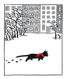 Ꮳαɬ αʀɬ (Jenny and the Cat Club: a collection of favourite stories about Jenny Linsky. Written and illustrated by Esther Averill) I Love Cats, Crazy Cats, Crazy Cat Lady, Black Cat Art, Black Cats, Guache, Photo Chat, Cat Drawing, Christmas Cats