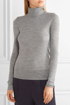 Joseph - Merino Wool Turtleneck Sweater - Gray - x small