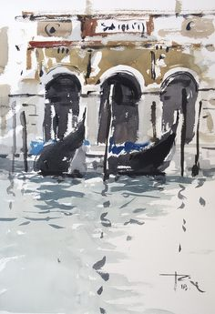 Epingle Sur Aquarelle Venise