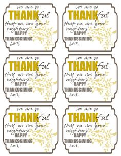 Neighbor Gift Idea for Thanksgiving ~ free printable tag