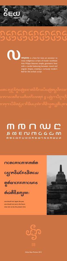 Kawi font: Wijaya on Behance
