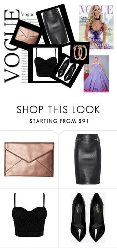 """""""The Day I Wore A Black Skirt"""" by komal-dhillon ❤ liked on Polyvore featuring Rebecca Minkoff, Moschino, Yves Saint Laurent, Pori, Whiteley and Christian Siriano"""
