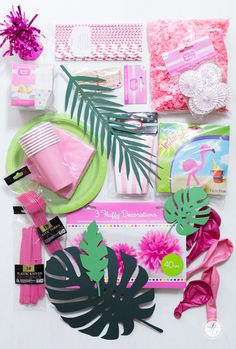 Partydecorations Amscan, Gewinnpaket, feiertäglich HappyMottoparty Flamingo Flamingo Party, Nice Asses, Ideas
