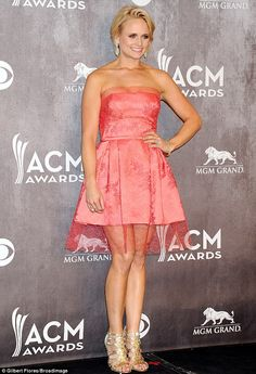 Make-under: Miranda is usually the glamour girl of country, seen here at the Academy of Co...