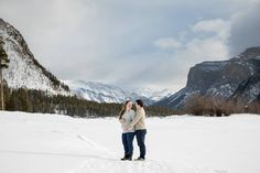 Banff Winter Maternity Session at Lake Minnewanka and Vermillion Lakes - Banff Family and Maternity Photographer via Kim Payant Photography, Casual Outdoor maternity photo session - Maternity poses ideas - Banff Maternity session, Winter maternity photos, mountain maternity photo session | family maternity photos in winter #banffmaternitysession #outdoormaternityphotosession #casualmaternityportraits