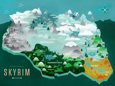 Pretty awesome map of Skyrim.