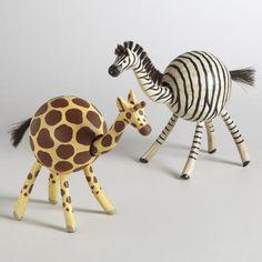 One of my favorite discoveries at WorldMarket.com: Bobblehead Safari Animals, Set of 2