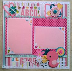 Baby  Girl  Toddler  premade scrapbook layout page by ohioscrapper, $15.00