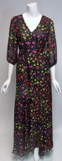 Eva Mendes Maxi Sheer Top 3/4 Length Sleeve Dress Sz M, L NWT $99 #EvaMendes #Maxi #Many